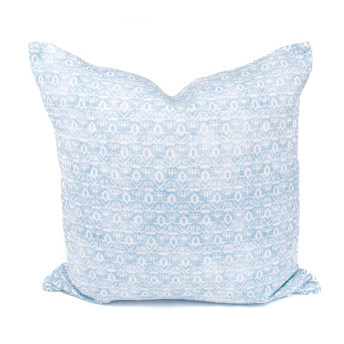 Blue Floral Print Pillow Cover | Mara