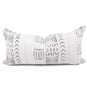 Cream African Mudcloth Pillow Cover | Cat