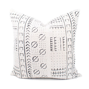 Cream African Mudcloth Pillow | Sarah