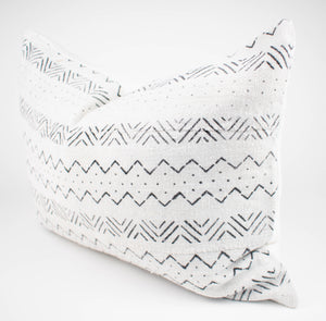 Cream African Mudcloth Pillow | Camden