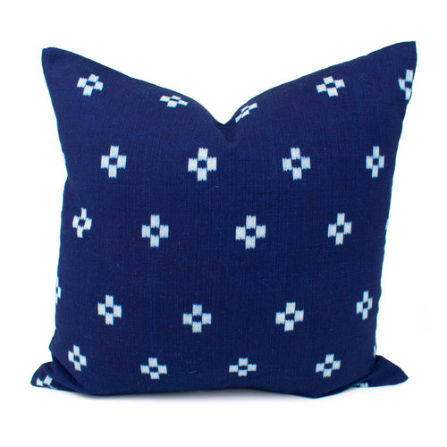 Thai Navy Blue Plus Pillow Cover | Annie