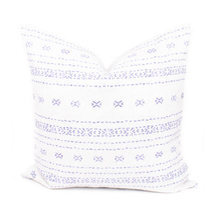 Blue Boho Stripe Pillow Cover | Laila