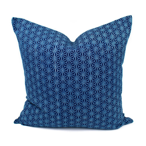 Thai Navy Blue Star Pillow Cover | Rachel