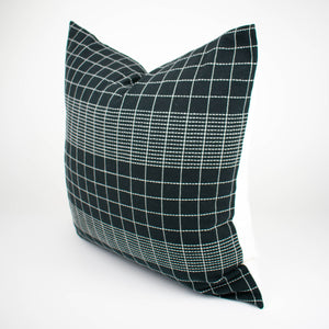 Thai Black and White Grid Pillow Cover | Riley