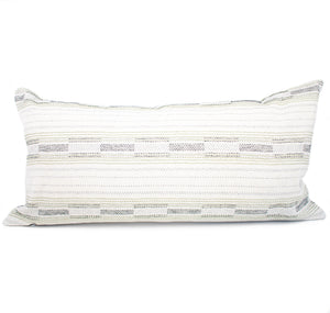 Green Southwest Stripe Lumbar Pillow Cover | Hannah
