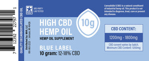 Proprietary Hemp Extract – Blue Label (150mg, 450mg, 1500mg CBD)- NO THC - vapthyme