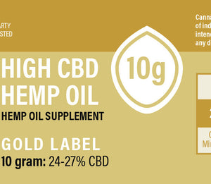Proprietary Hemp Extract – Gold CBD Oil Concentrate (250mg, 750mg, 2500mg)-NO THC - vapthyme