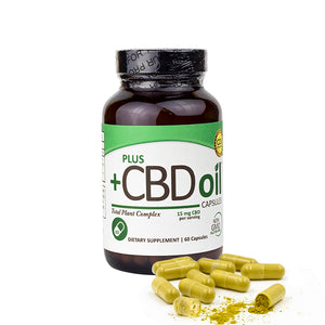 +CBD Oil - Capsules, 15mg/60ct - vapthyme