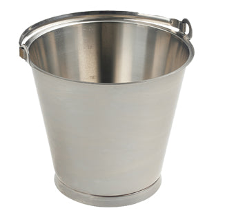 3 gallon Stainless Steel Bucket (MBK5012) - Shadow Boards & Cleaning Products for Workplace Hygiene | Atesco Industrial Hygiene