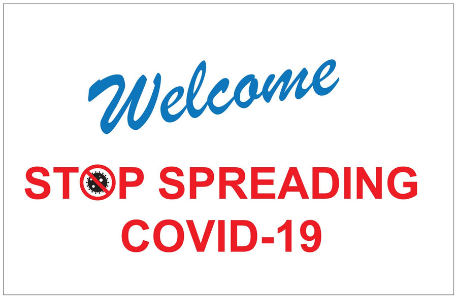 Covid-19 Window Adhesive Sticker (CVD-sing1711)
