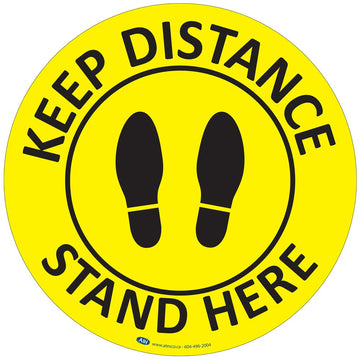 COVID-19 Distance Floor Sign (CVD-sign17)