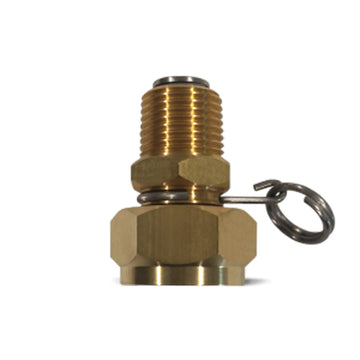 Brass Swivel hose adapter with 1/2