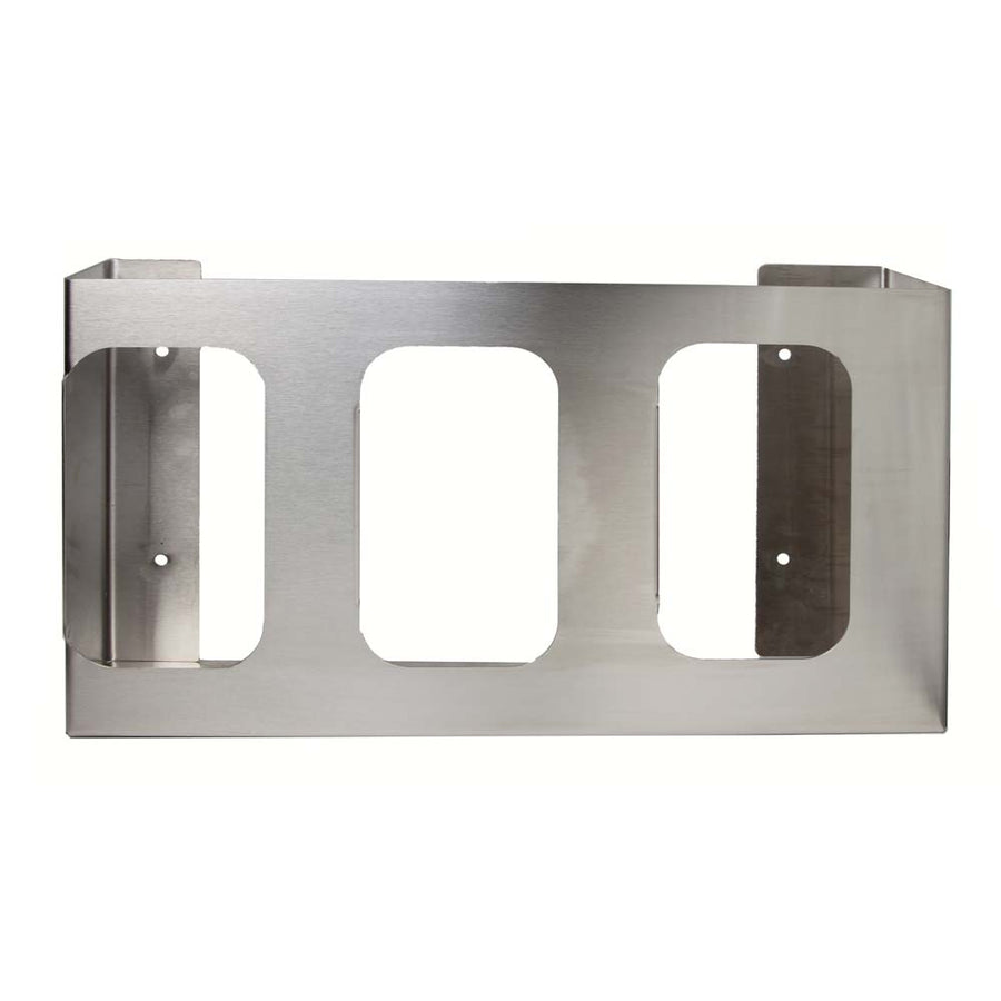 Stainless Steel Triple Side Loading Glove Box Dispenser (A6003)
