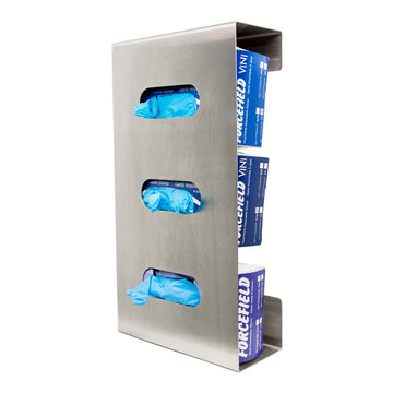 Stainless Steel Triple side loaded glove dispenser (A6103)