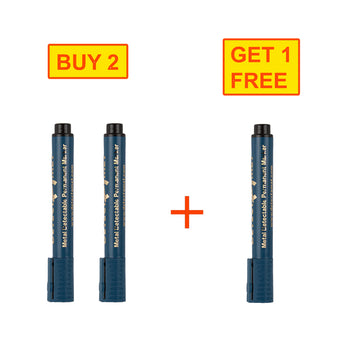 Detectable Whiteboard Markers, Blue ink, Chisel Tip, 3 x 10/pack (3DTM33 WMBCT)