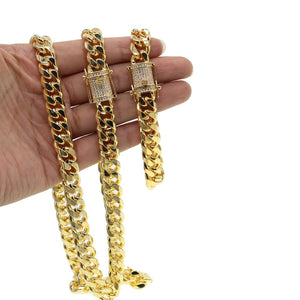 24 in. 10mm Gold Cuban Link Chain