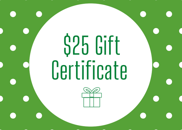 $25 gift certificate!