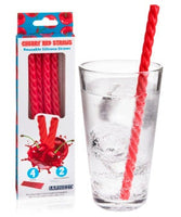 Cherry Red Reusable Straws