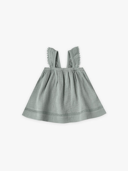 Ruffled  Dress - Ocean 12-18m