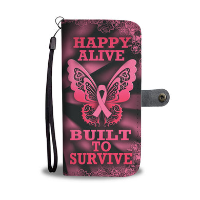 Happy Alive, Built to Survive - Pink & Black Background