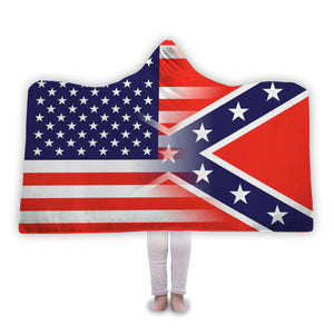 USA State Flag - Hooded Blanket