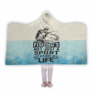 Fishing slogan - Hooded Blanket