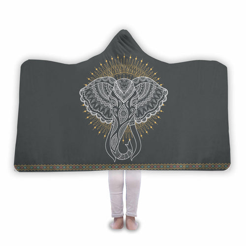 Elephant - Hooded Blanket
