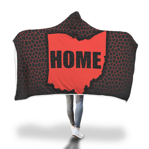 Ohio Is Home- Hooded Blanket