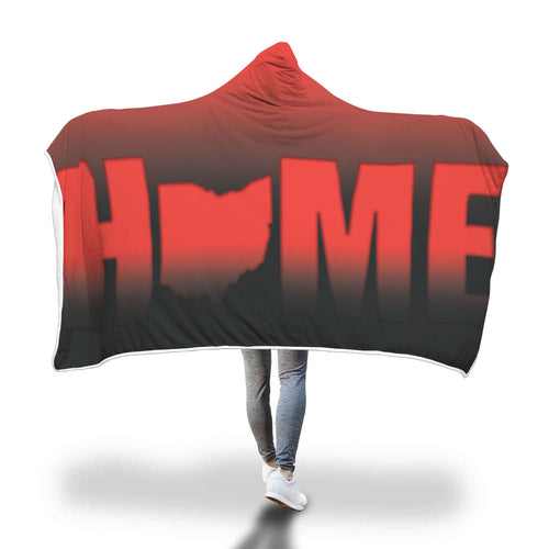 Ohio Is Home- Hooded Blanket 2