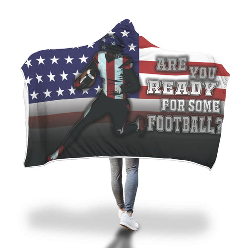 Football - Hooded Blanket