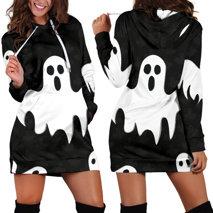 Halloween Hoodie Dress:Ghost