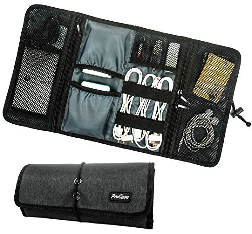 93090b539a Procase Travel Gear Organizer Black Electronics Accessories Bag Small  Gadget Carry Case Storage Usb Cables Earphone ...