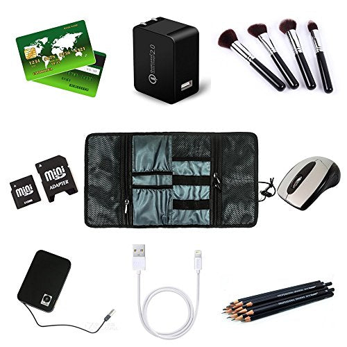 a8f99d261b ... Procase Travel Gear Organizer Black Electronics Accessories Bag Small  Gadget Carry Case Storage Usb Cables Earphone ...