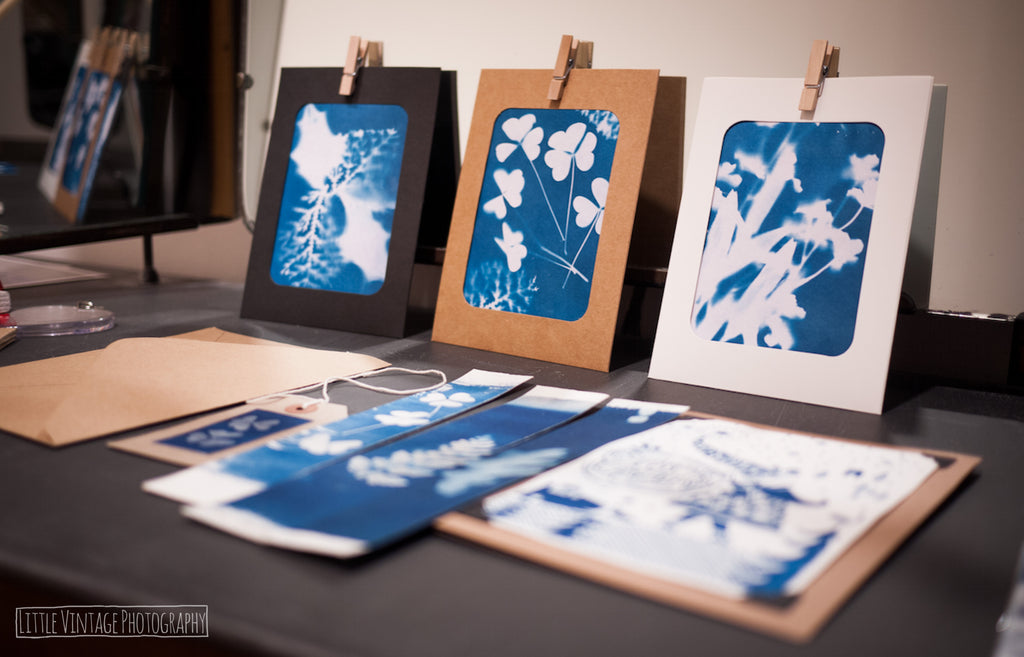 cyanotypes from workshop run by rachel brewster-wright - Analogue Wonderland