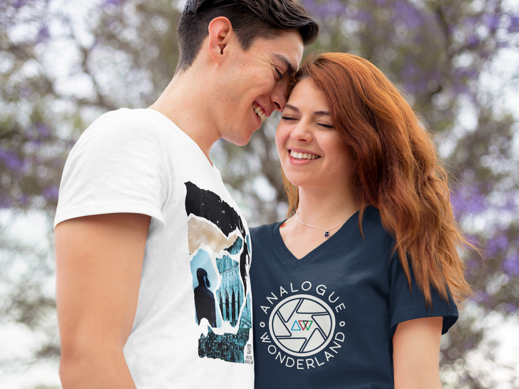 couple wearing film photography t-shirts