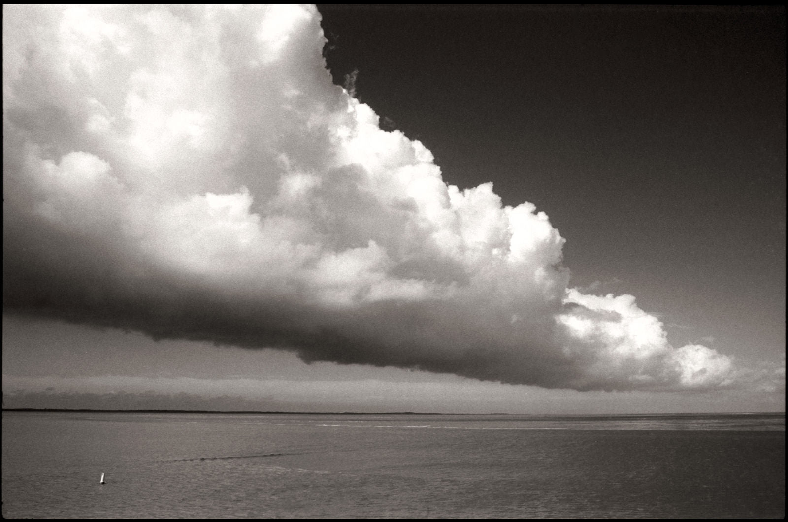 Photo on ilford fp4 plus 35mm B&W film of dramatic cloud