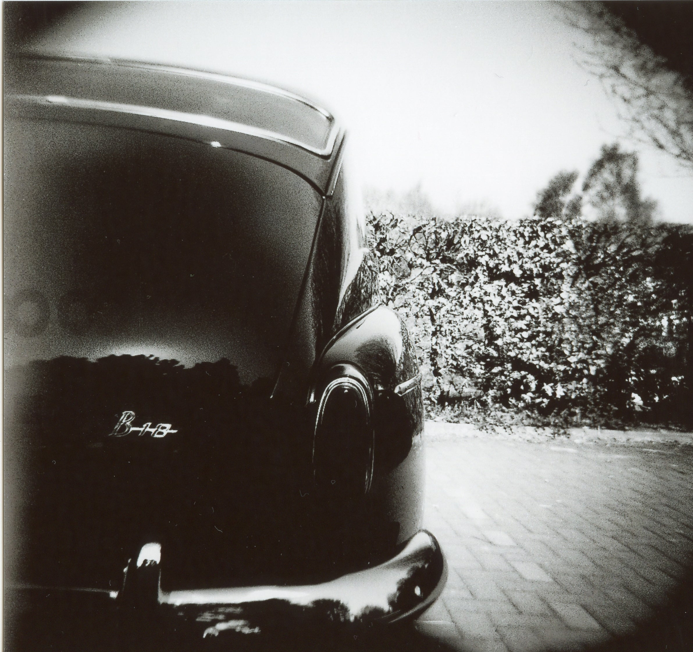 Photo of car on adox chs II 120 b&w film
