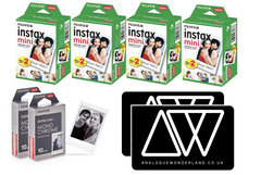 packshots of instax film for summer bundle - photography gift