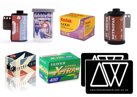 packshot of 35mm film for summer family holiday bundle - photography gift