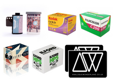 packshots for learning film photography on 35mm film - photography gift