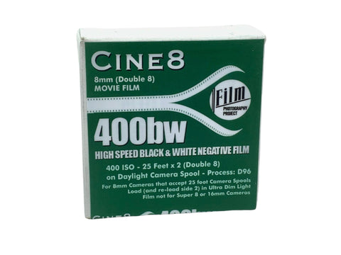 FPP Cine8 400BW - Double 8mm Movie Film - 25ft - Analogue Wonderland