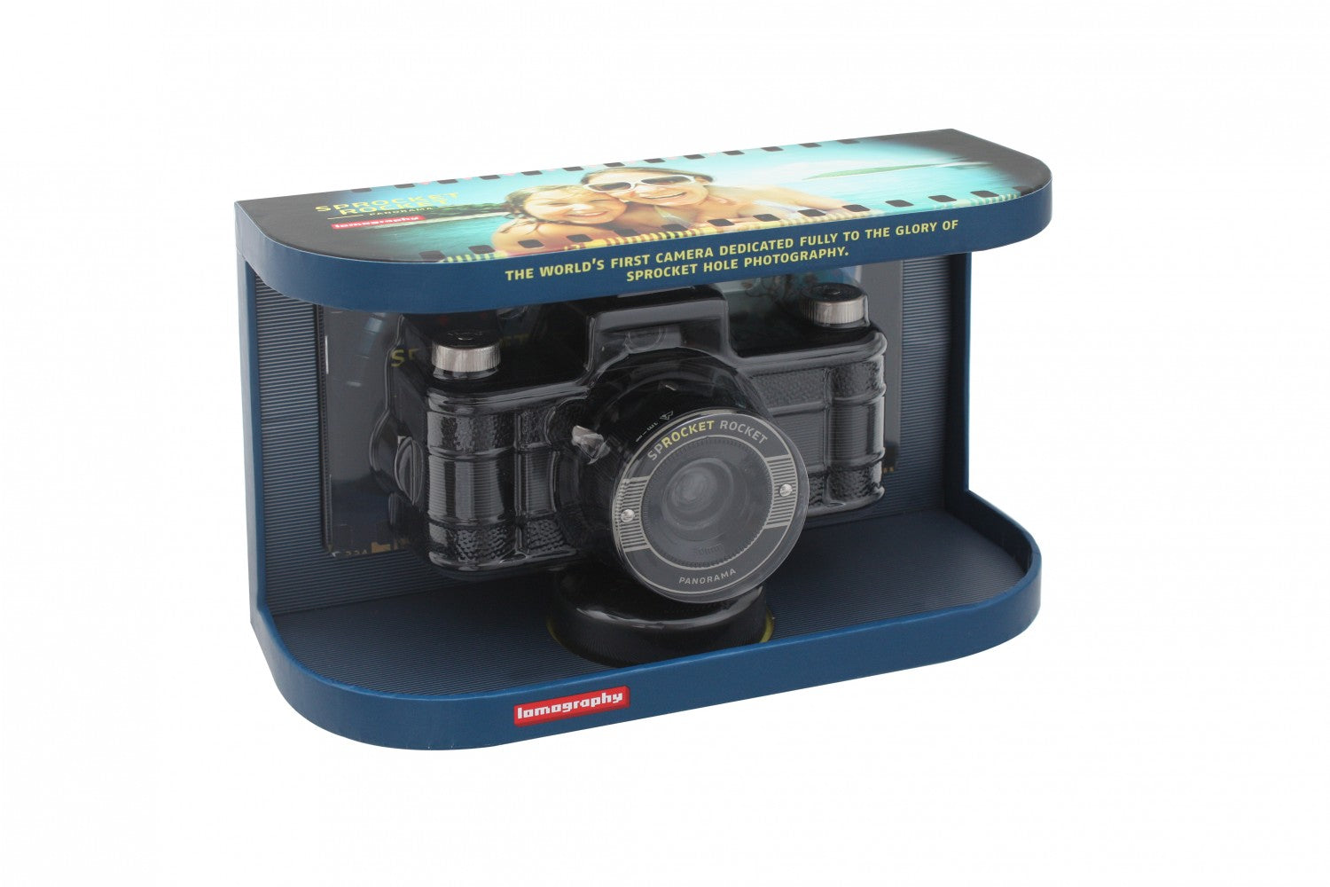 Lomography Sprocket Rocket Black - 35mm Film Camera - Packaging