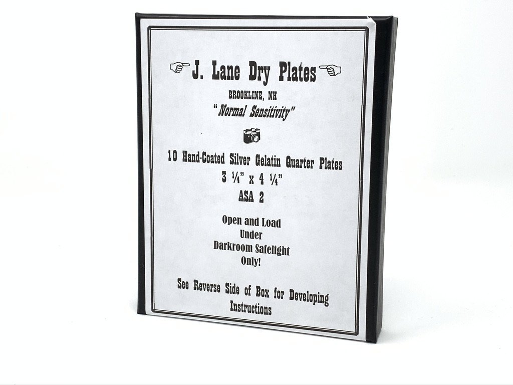J Lane Dry Plates - Quarter Plate Film - ISO 2 - Analogue Wonderland