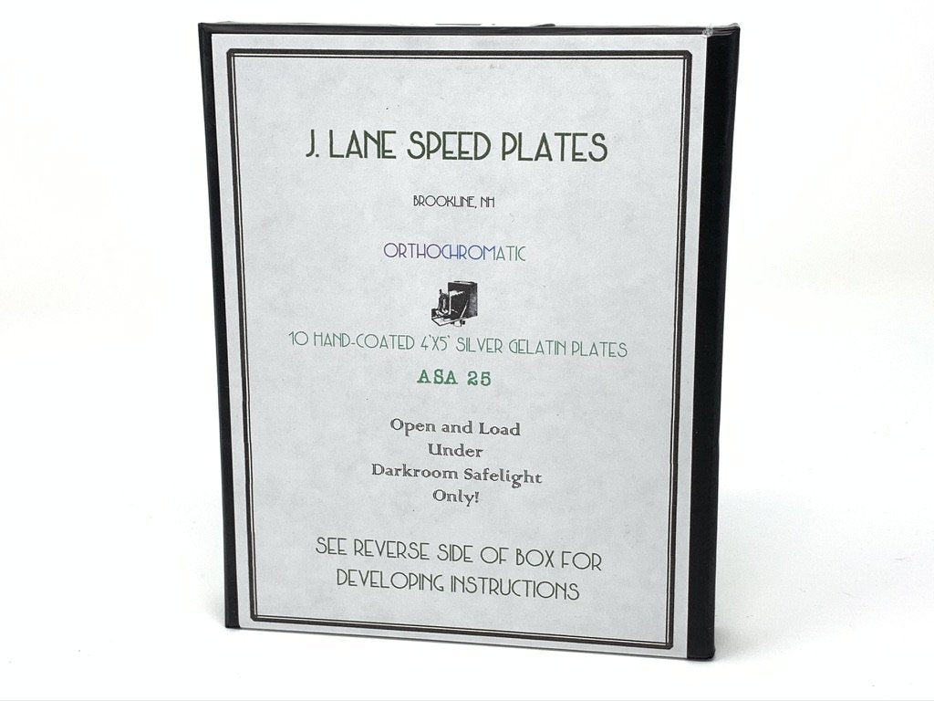 J Lane Speed Plates - 4x5 Plate Film - ISO 25 - Analogue Wonderland