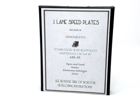 J Lane Speed Plates - Quarter Plate Film - ISO 25 - Analogue Wonderland
