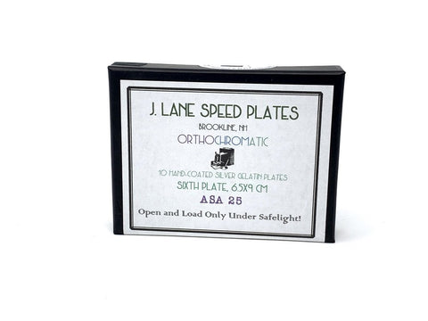 J Lane Speed Plates - Sixth Plate Film - ISO 25 - Analogue Wonderland