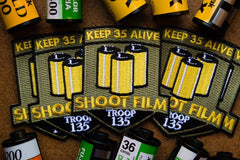 Keep 35 Alive - Film Photography Patch - Analogue Wonderland