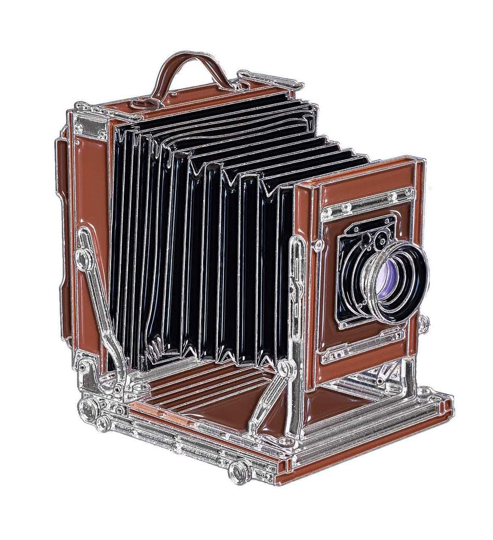 Large Format Film Camera - Enamel Pin - Analogue Wonderland