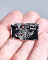 Rangefinder Film Camera - Enamel Pin - Analogue Wonderland