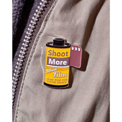 Shoot More 35mm Film - Enamel Pin - Analogue Wonderland